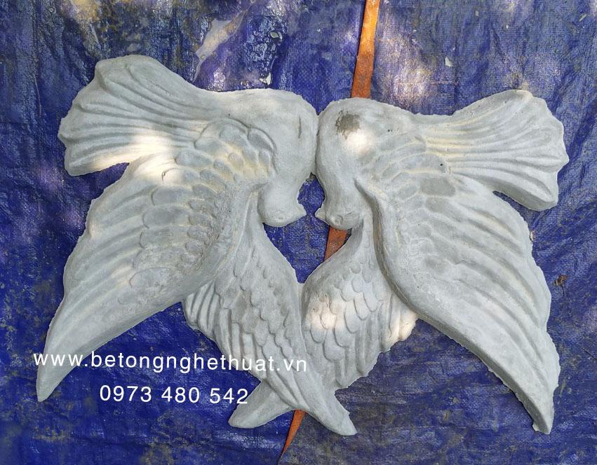 Đôi chim bồ câu bê tông 70x43cm