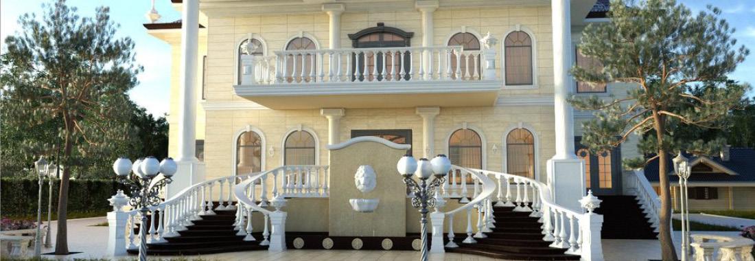 Trang trí mặt tiền biệt thự bằng các sản phẩm bê tông nghệ thuật
