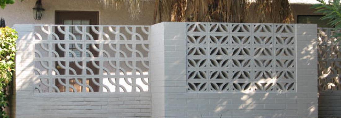 Các ô tường trang trí bằng bê tông