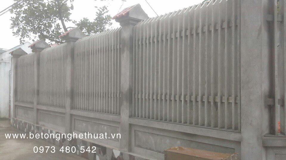 Hàng rào bê tông cao 170cm-mẫu 01