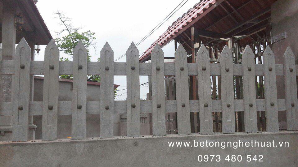 Hàng rào bê tông cao 75cm