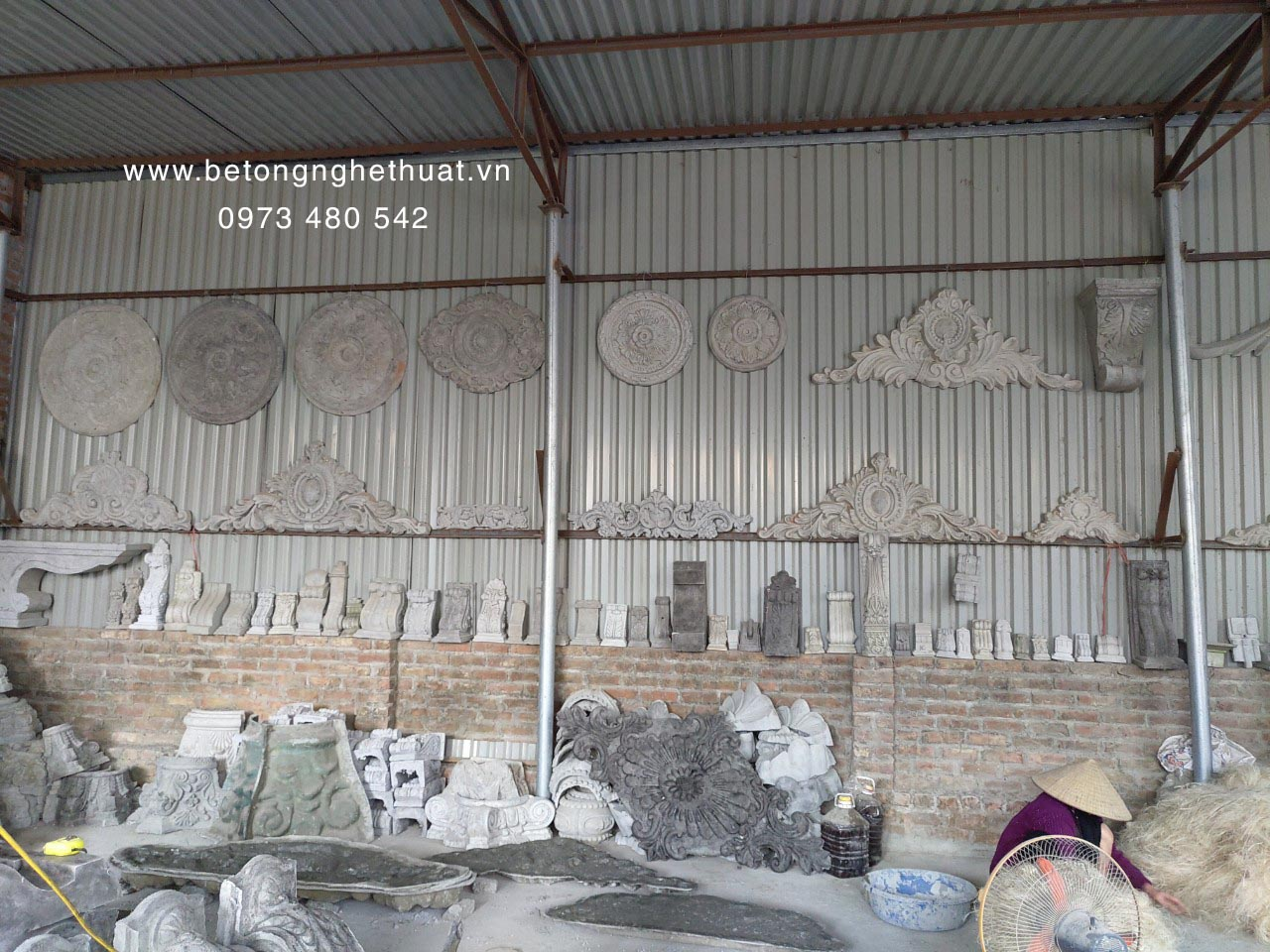Hình ảnh xưởng sản xuất của bê tông nghệ thuật