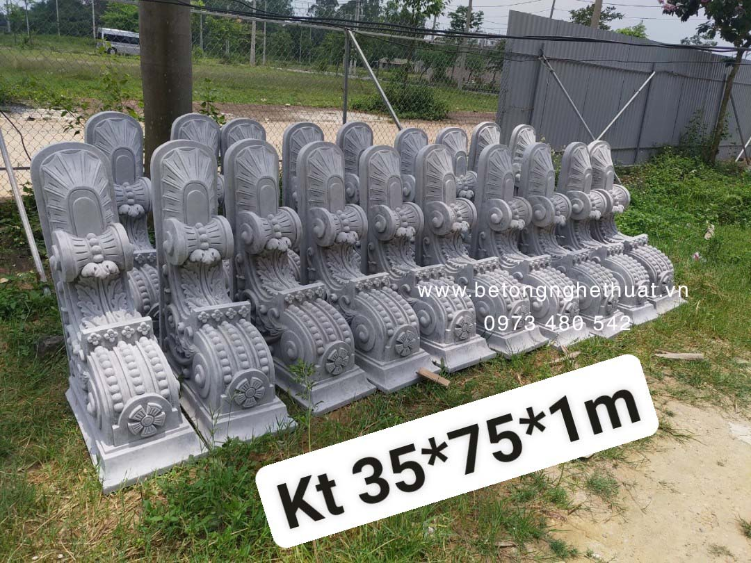 Con bọ bê tông lâu đài 35x75x100cm
