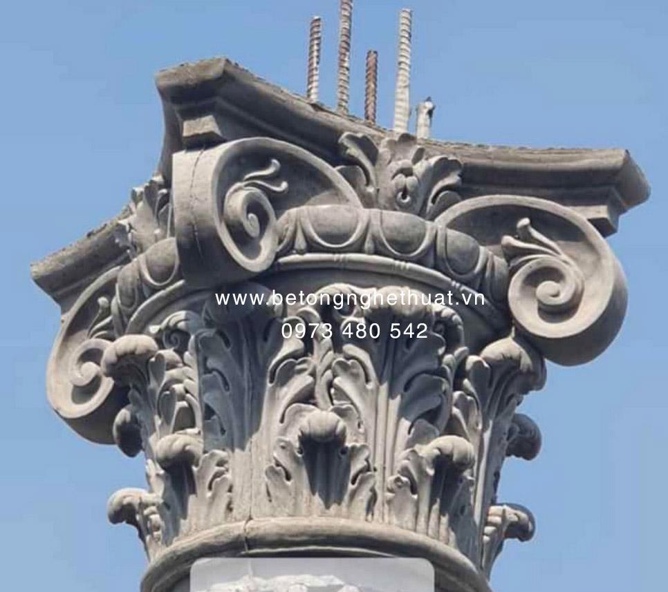 Đầu cột tròn bê tông 40cm