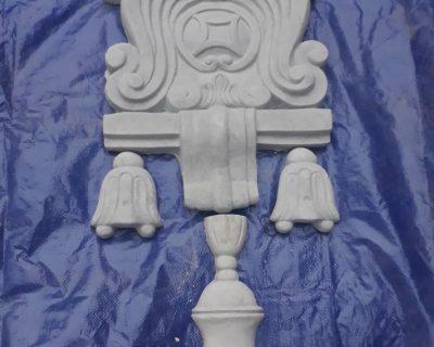 Hoa văn trang trí mặt cột 81x36cm
